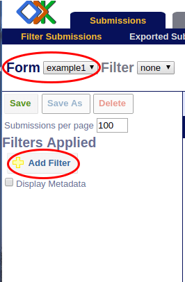 Image showing add filter option.