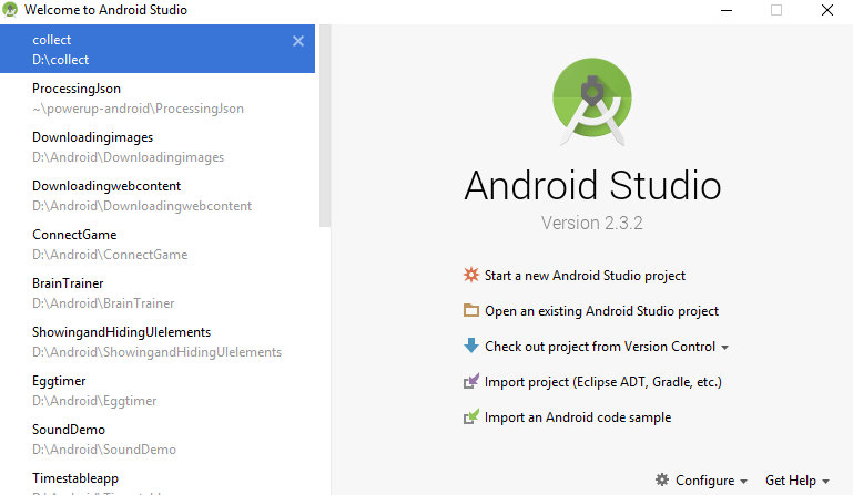 Image showing Android studio screen