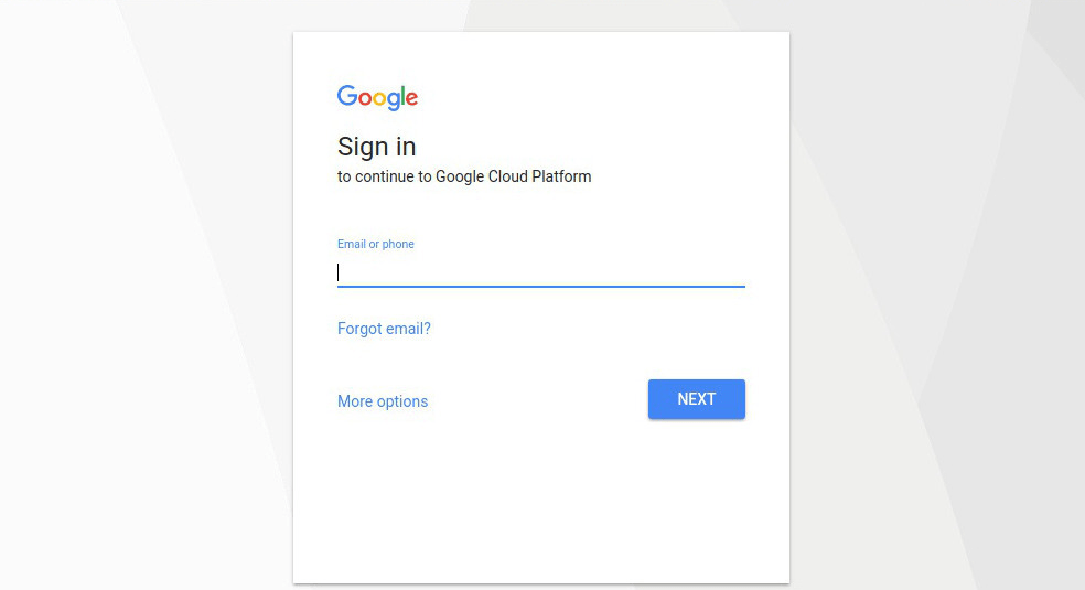 Image showing the sign in window of Gmail.