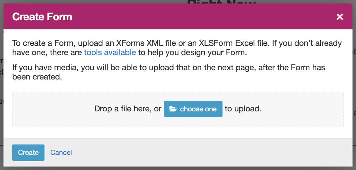 Managing Forms in Central — Open Data Kit Docs
